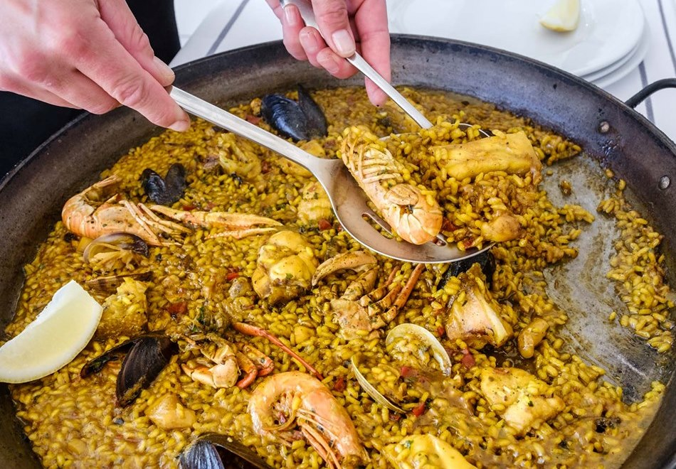 Paella at Restaurante Port Balansat in Ibiza
