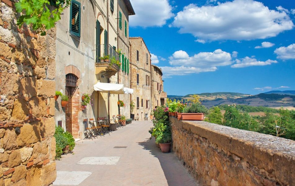 Pienza town in Tuscany