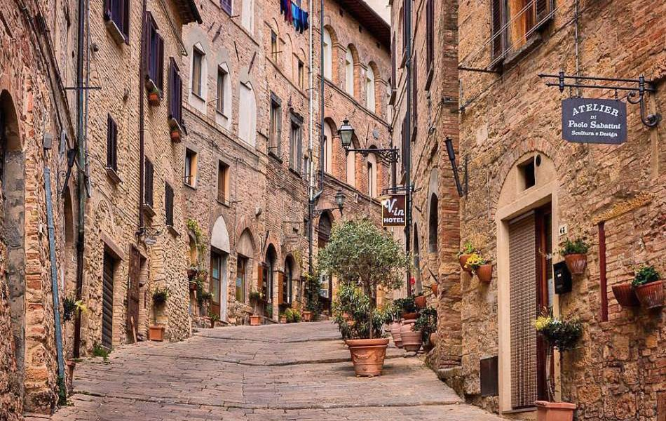 Volterra town in Italy