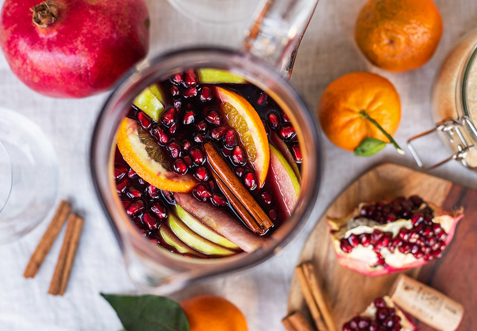festive mulled winter sangria gluhwein alternative