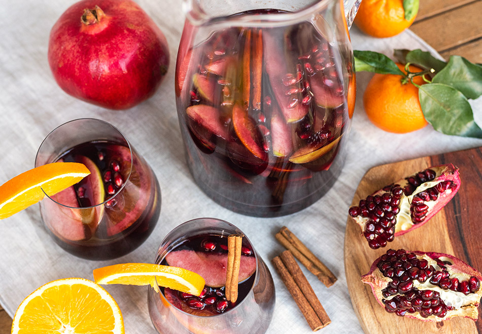 winter sangria mulled wine alternative