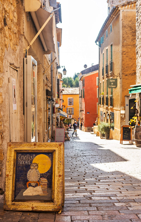 Streets of Valbonne - village of English-speaking expats