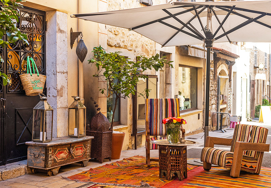 La Pigeot Moroccan restaurant in Valbonne