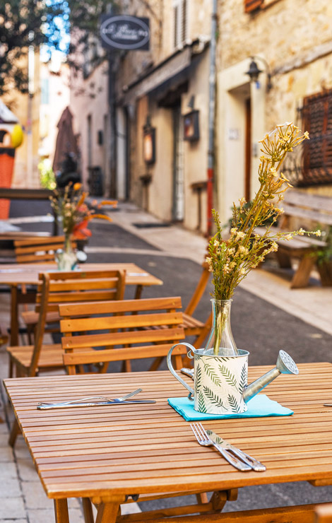 Cafes and restaurants of Valbonne