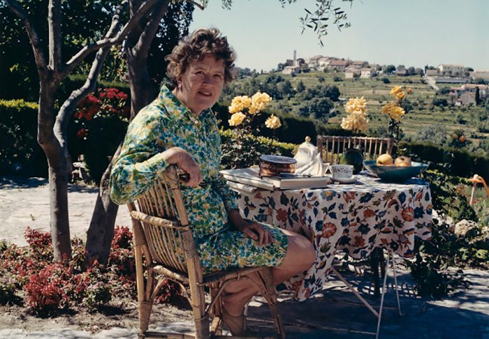 Julia Child at her home in Valbonne