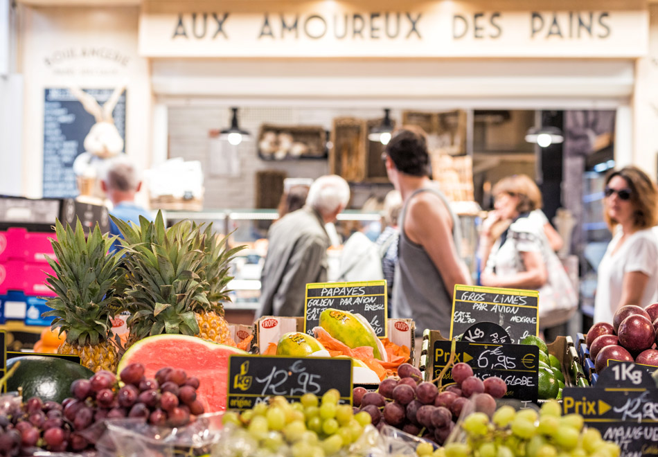 Food market in Antibes