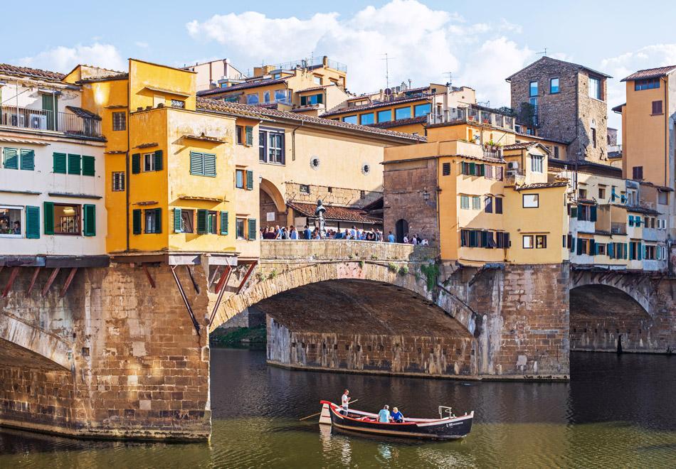 Ponte Vecchio at Arno river Florence