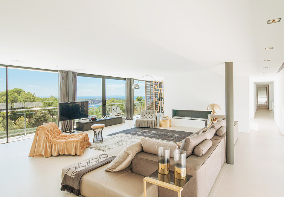 South West Ibiza luxury vacation rental with sea view