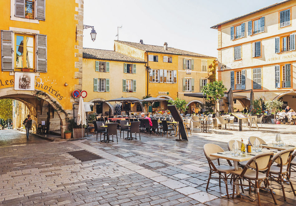 Main Square In Valbonne Village, French Riviera